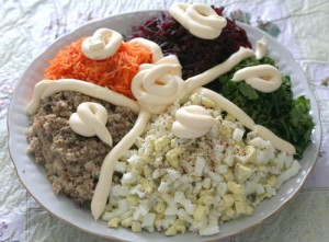 Салат зимний двухцветный